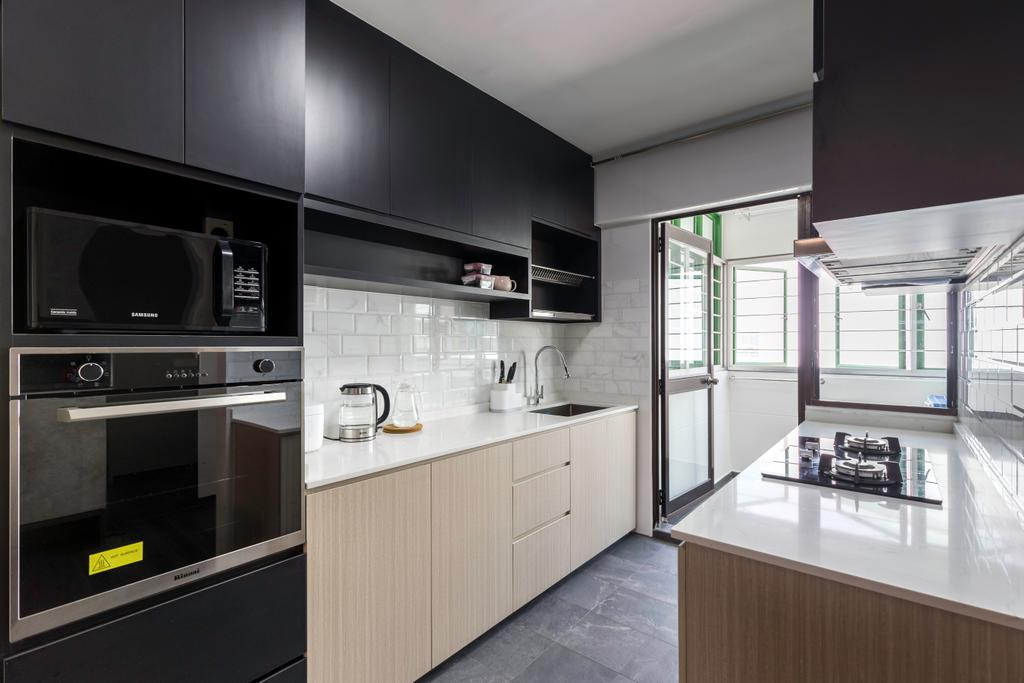 Contemporary, HDB, Kitchen, Bedok Reservoir View, Interior Designer, Yang's Inspiration Design