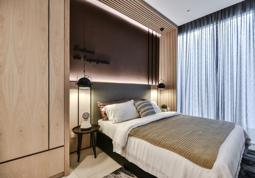 Apartment, Bedroom, A&M Service Apartment Show Unit, Kota Kemuning, Interior Designer, SQFT Space Design Management