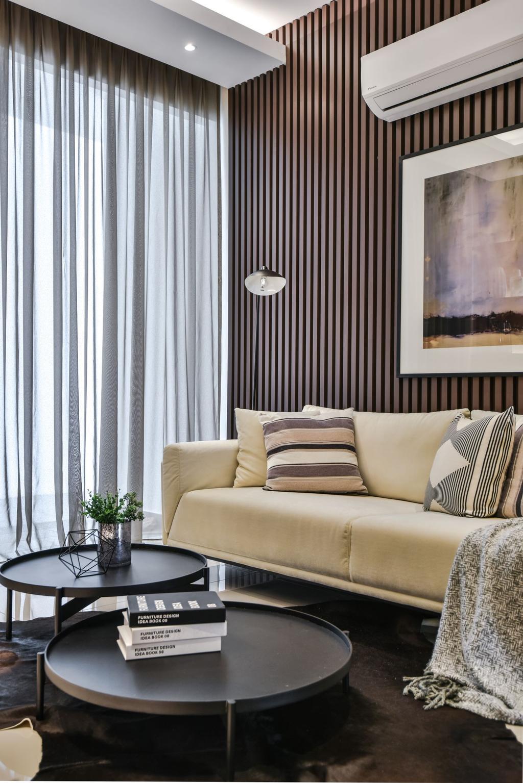 Apartment, Living Room, A&M Service Apartment Show Unit, Kota Kemuning, Interior Designer, SQFT Space Design Management