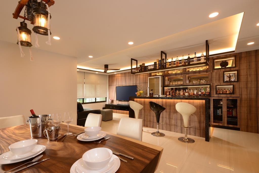 Contemporary, Condo, Dining Room, Parc Life, Interior Designer, Apex Design