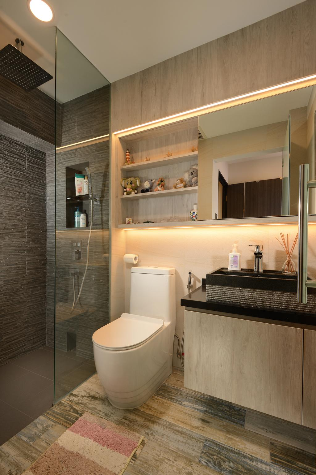 Contemporary, Condo, Bathroom, Parc Life, Interior Designer, Apex Design