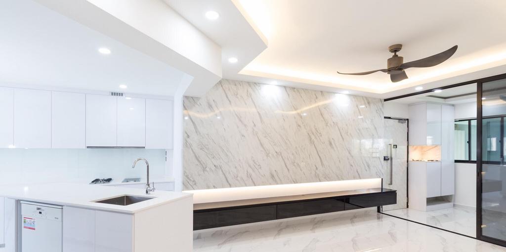 Contemporary, HDB, Living Room, Bukit Purmei, Interior Designer, Patrick's Interior Dezign