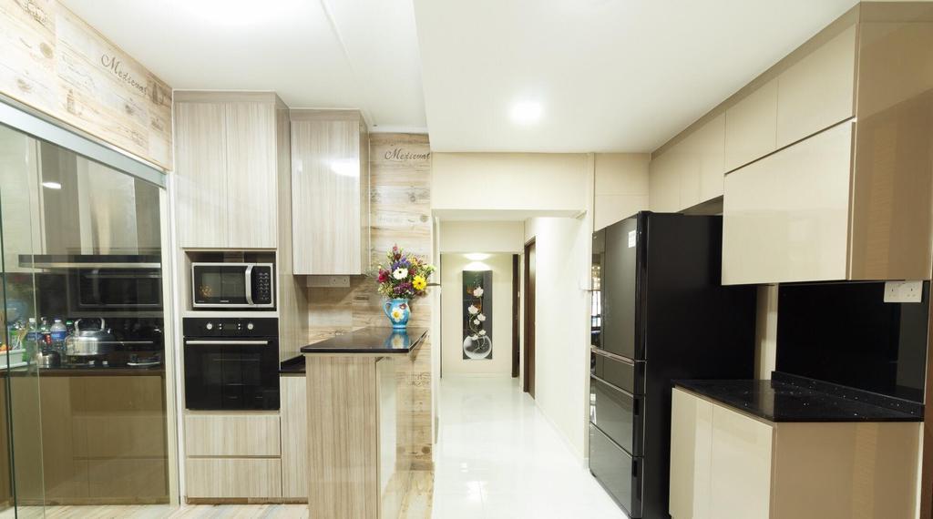 Transitional, HDB, Kitchen, Jurong West Street 65, Interior Designer, Patrick's Interior Dezign