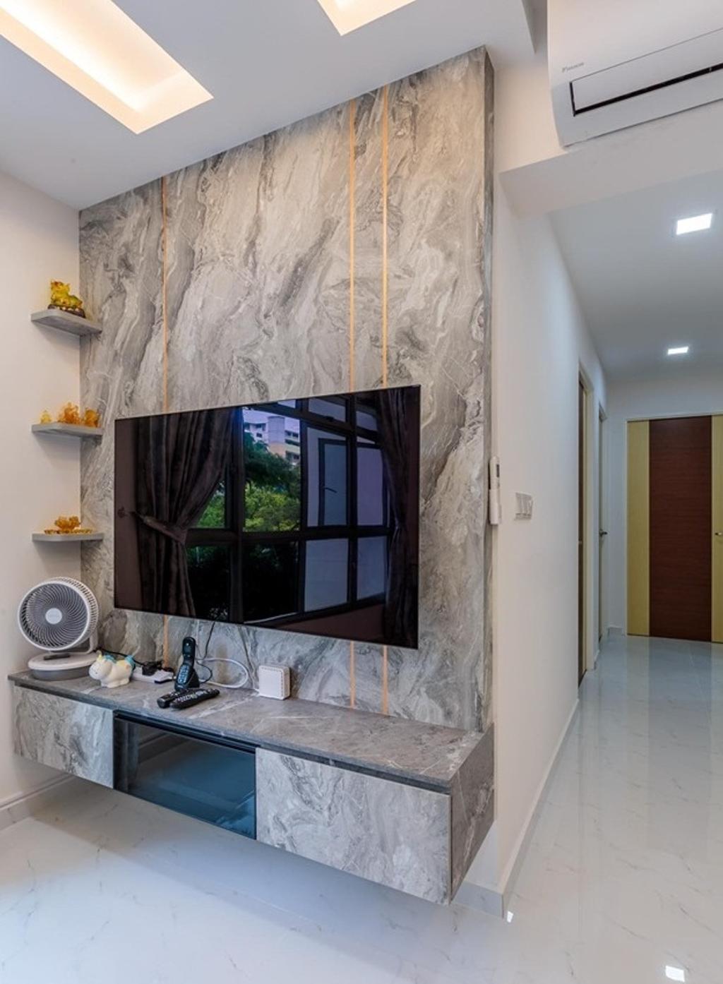 Modern, HDB, Living Room, Teban Garden, Interior Designer, Patrick's Interior Dezign