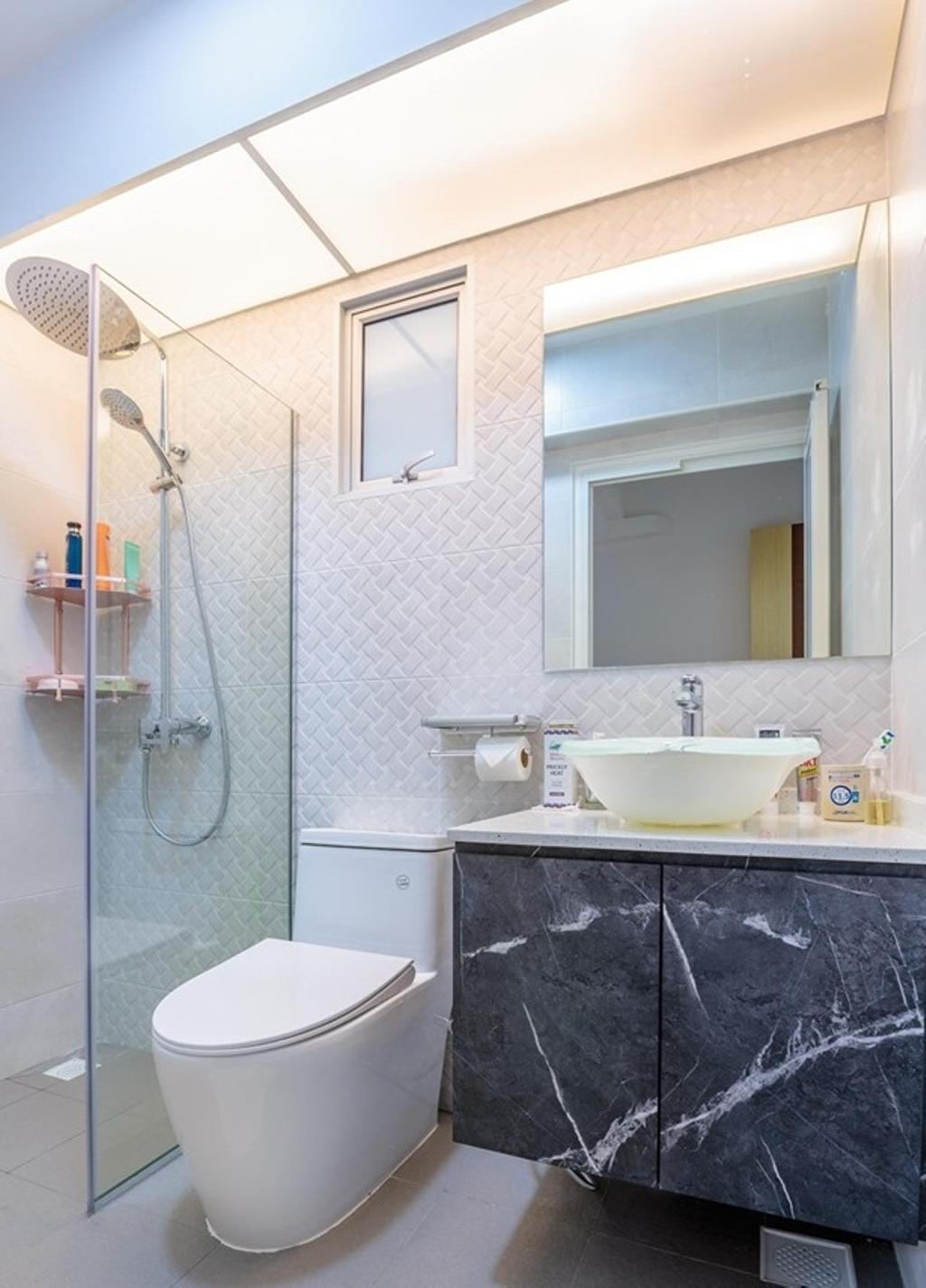 Modern, HDB, Bathroom, Teban Garden, Interior Designer, Patrick's Interior Dezign