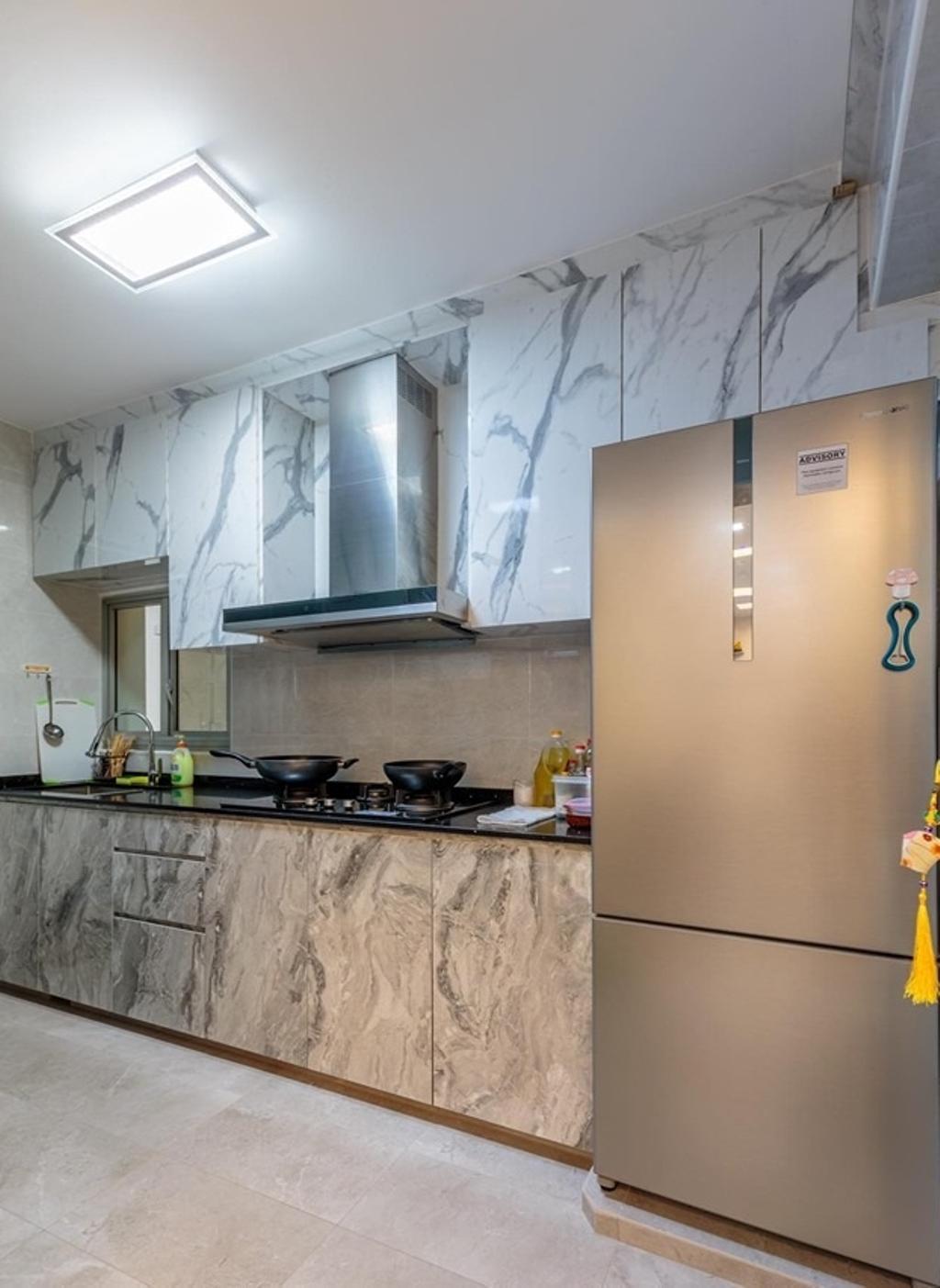 Modern, HDB, Kitchen, Teban Garden, Interior Designer, Patrick's Interior Dezign