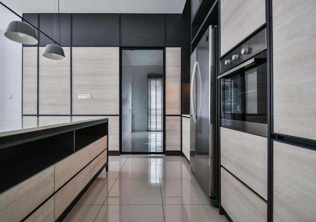 Modern, Landed, Kitchen, Chemera Hill Show Unit Type SD2, Seremban, Interior Designer, SQFT Space Design Management, Contemporary