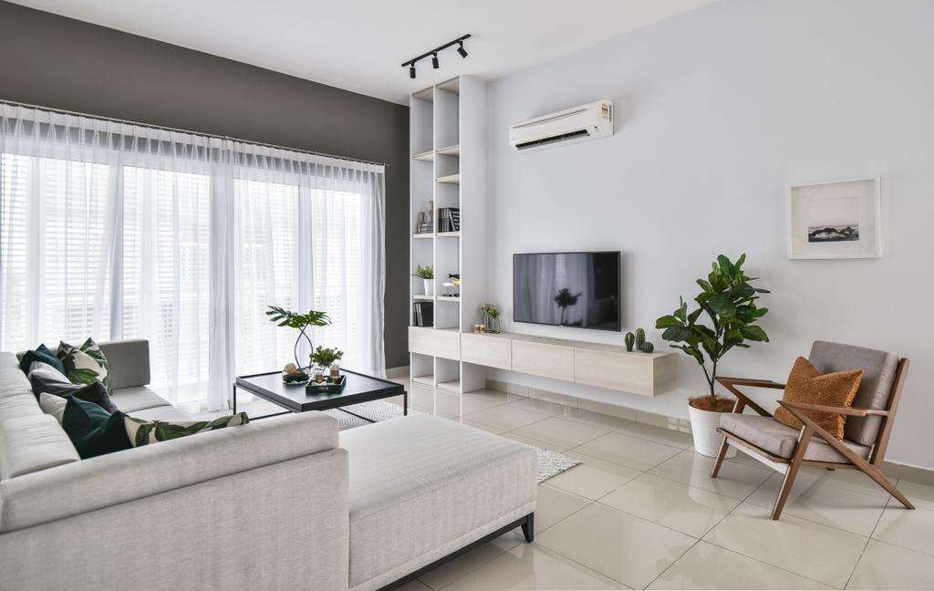 Modern, Landed, Living Room, Chemera Hill Show Unit Type SD2, Seremban, Interior Designer, SQFT Space Design Management, Contemporary