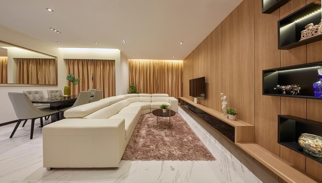Modern, Condo, Living Room, Central View, Interior Designer, Blanc
