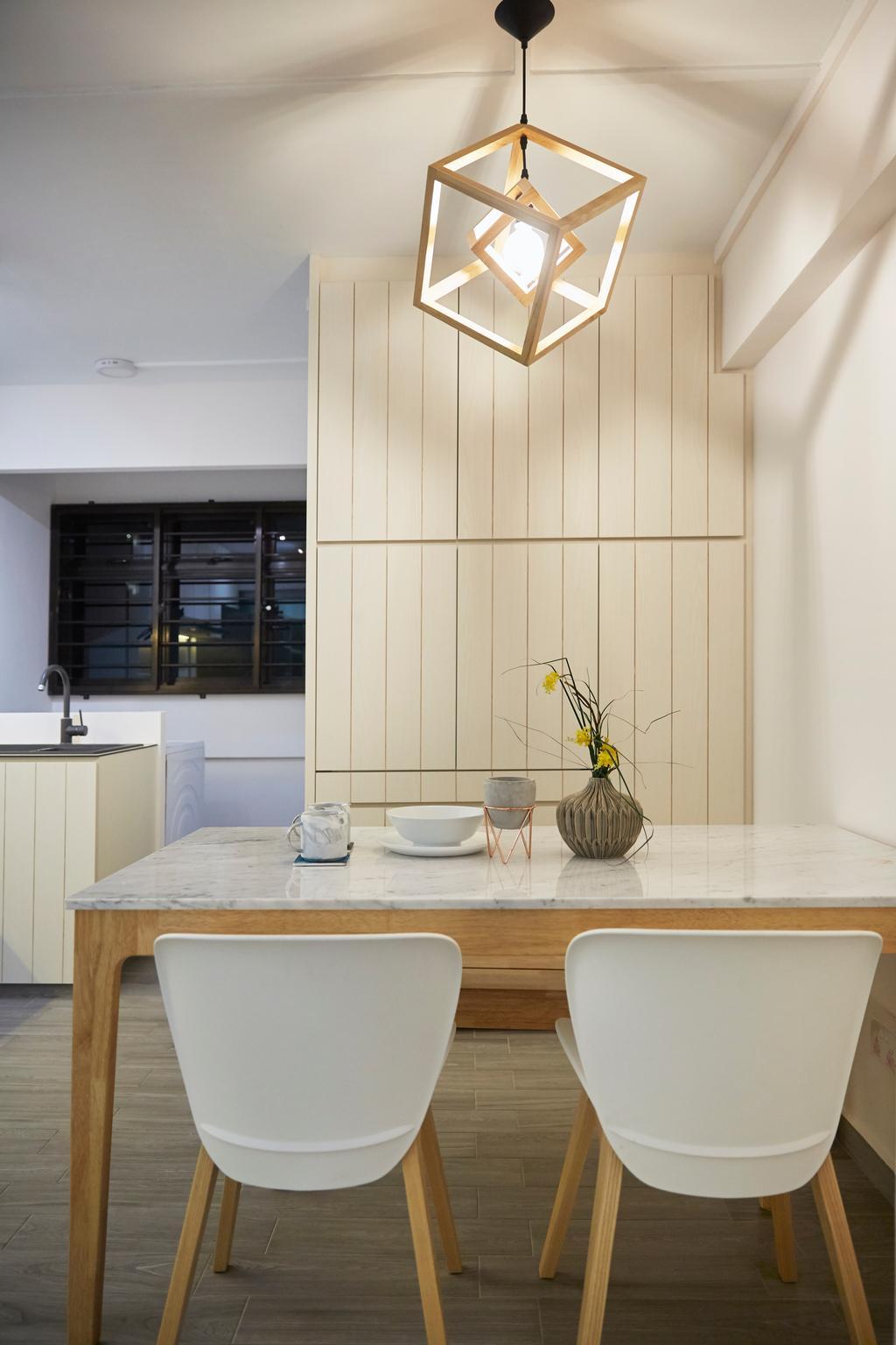 Modern, HDB, Dining Room, Potong Pasir, Interior Designer, Blanc, Minimalistic