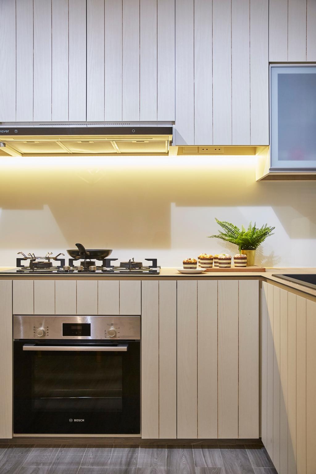 Modern, HDB, Kitchen, Potong Pasir, Interior Designer, Blanc, Minimalistic