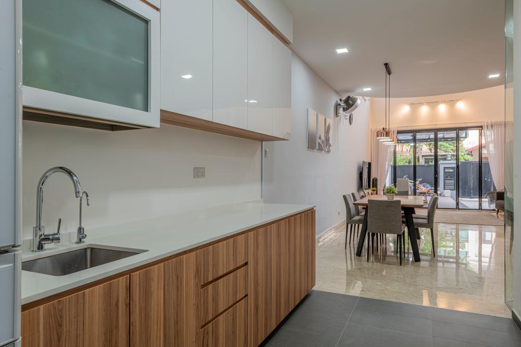 Modern, Landed, Kitchen, Riverina Walk, Interior Designer, Renologist