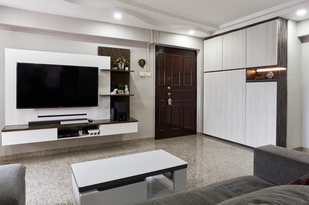 Contemporary, HDB, Living Room, Choa Chu Kang Crescent, Interior Designer, Buildwerkz Builders