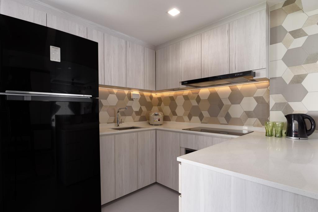 Contemporary, Condo, Kitchen, Aquarius By The Park, Interior Designer, Project Guru