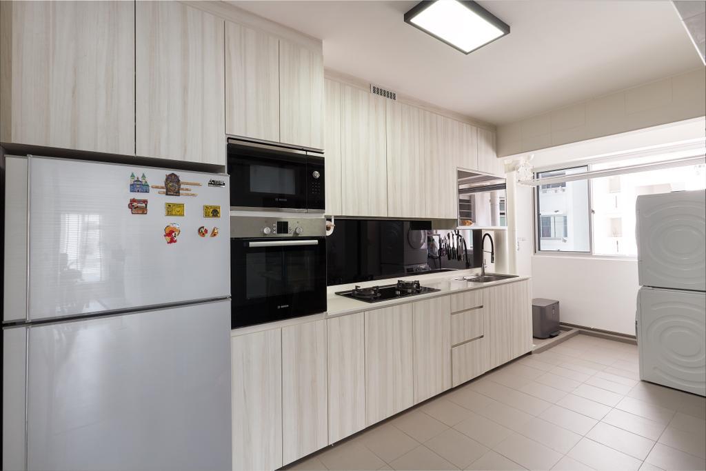 Contemporary, HDB, Kitchen, Sumang Lane, Interior Designer, Project Guru