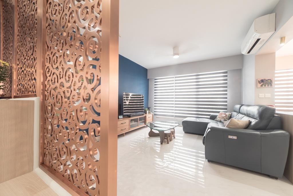 Contemporary, HDB, Living Room, Commonwealth Drive, Interior Designer, MET Interior