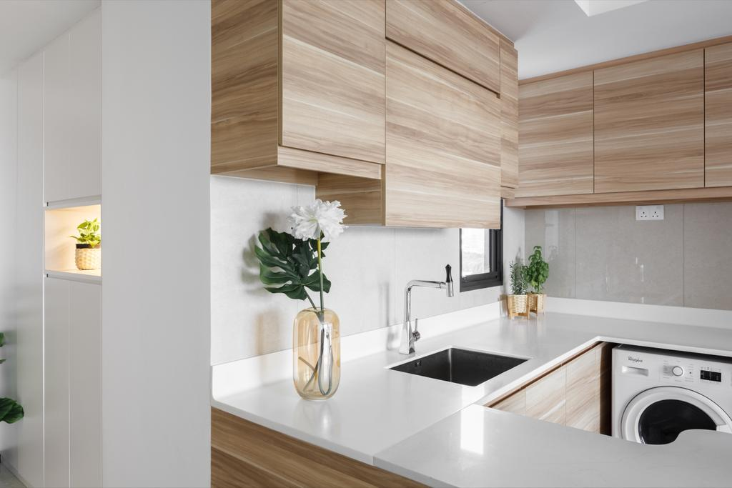 Scandinavian, Condo, Kitchen, The Poiz Residences, Interior Designer, Home Philosophy