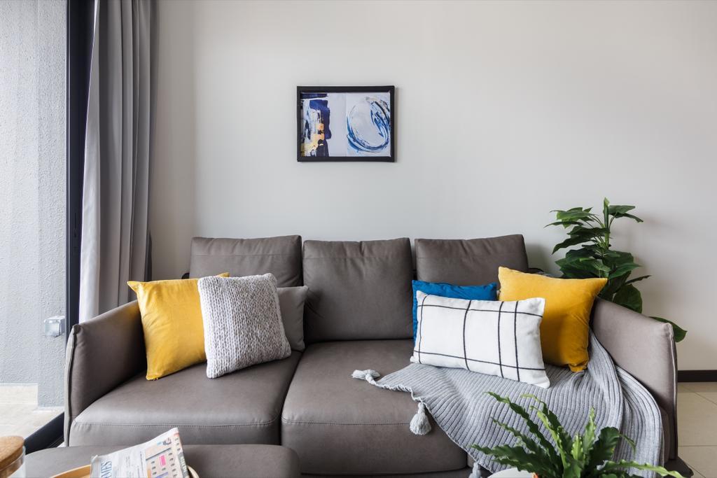 Scandinavian, Condo, Living Room, The Poiz Residences, Interior Designer, Home Philosophy