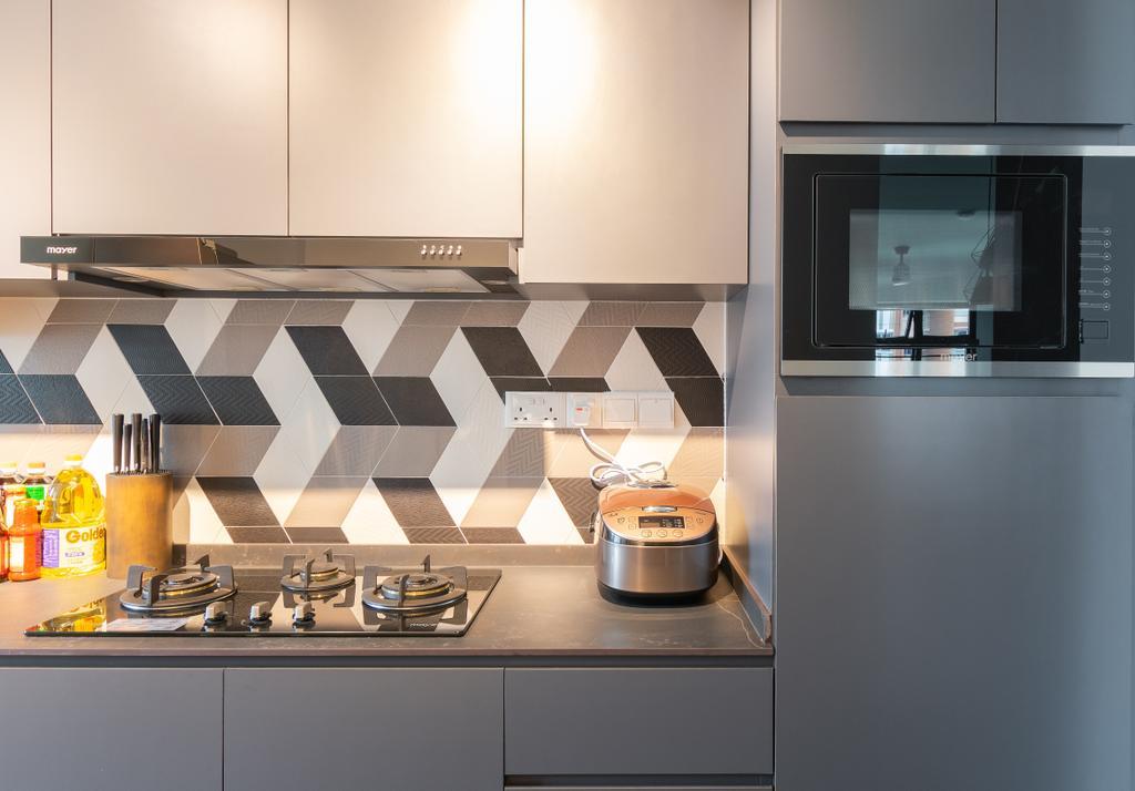 HDB, Kitchen, Buangkok Crescent, Interior Designer, Yang's Inspiration Design