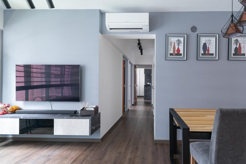 HDB, Living Room, Buangkok Crescent, Interior Designer, Yang's Inspiration Design