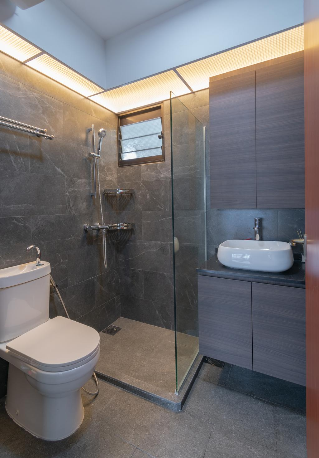 HDB, Bathroom, Buangkok Crescent, Interior Designer, Yang's Inspiration Design