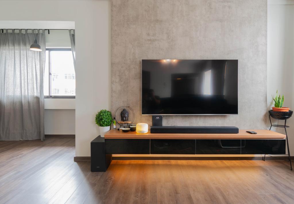 Contemporary, HDB, Living Room, Choa Chu Kang Street 53, Interior Designer, Yang's Inspiration Design