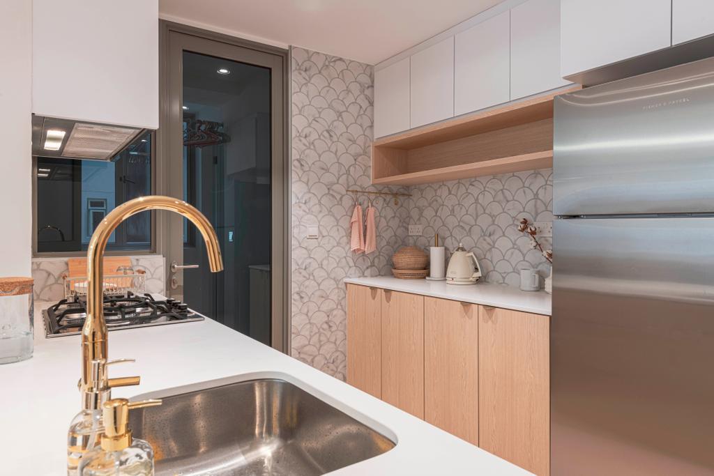 Scandinavian, Condo, Kitchen, Sol Acres, Interior Designer, Colourbox Interior