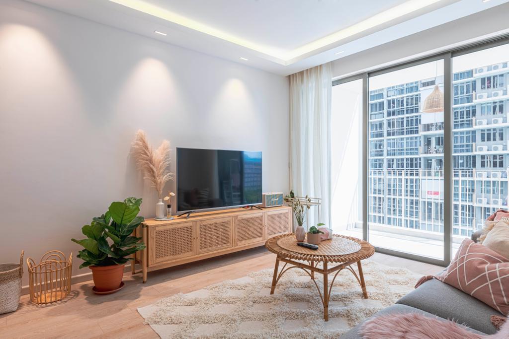Scandinavian, Condo, Living Room, Sol Acres, Interior Designer, Colourbox Interior