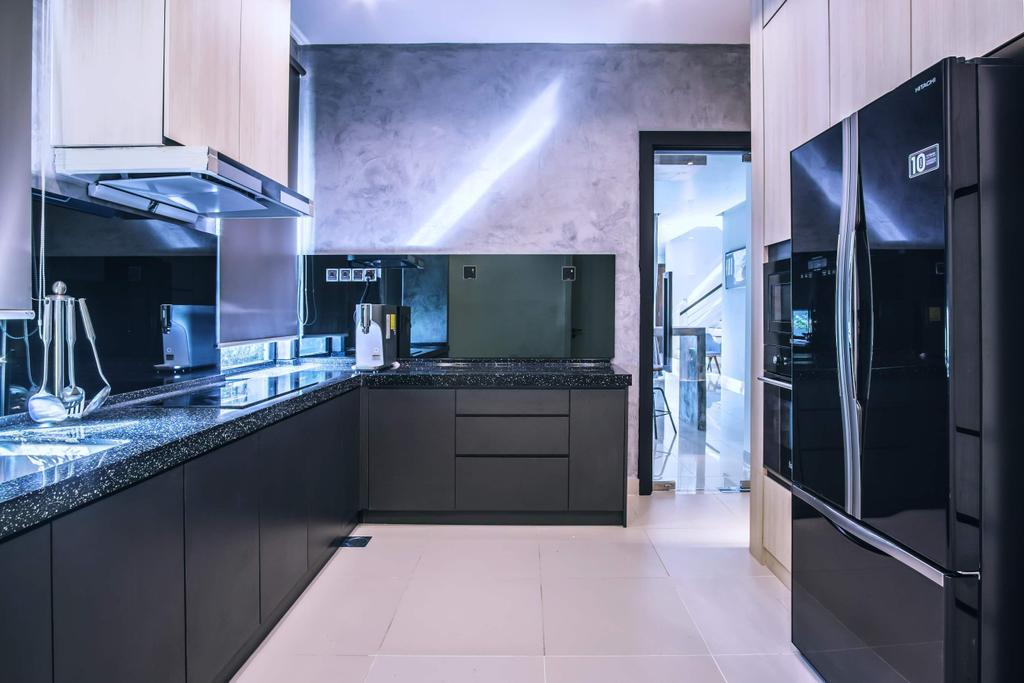 Modern, Landed, Kitchen, Haven Villa, Perak, Interior Designer, Red Land Design, Contemporary