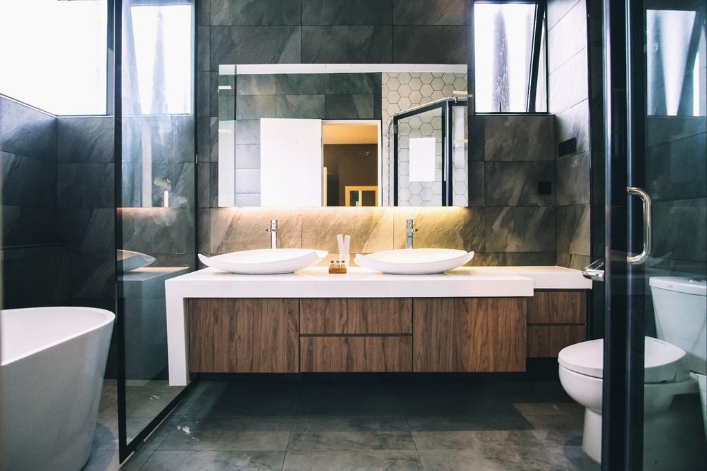 Modern, Landed, Bathroom, Haven Villa, Perak, Interior Designer, Red Land Design, Contemporary