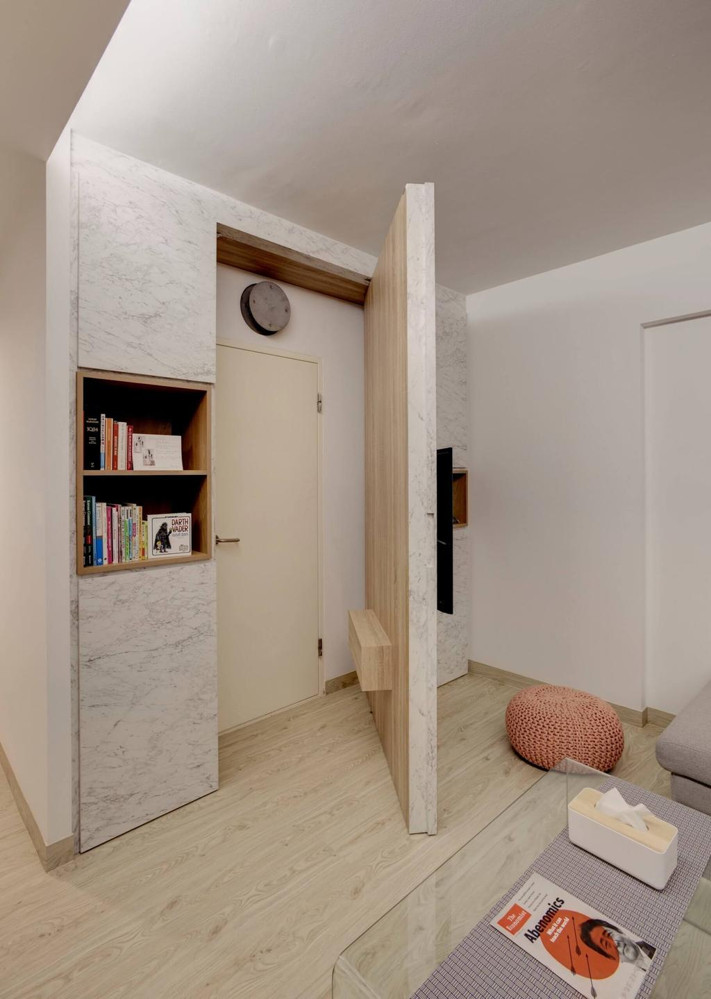 Minimalistic, HDB, Living Room, Cantonment Road, Interior Designer, Space Factor