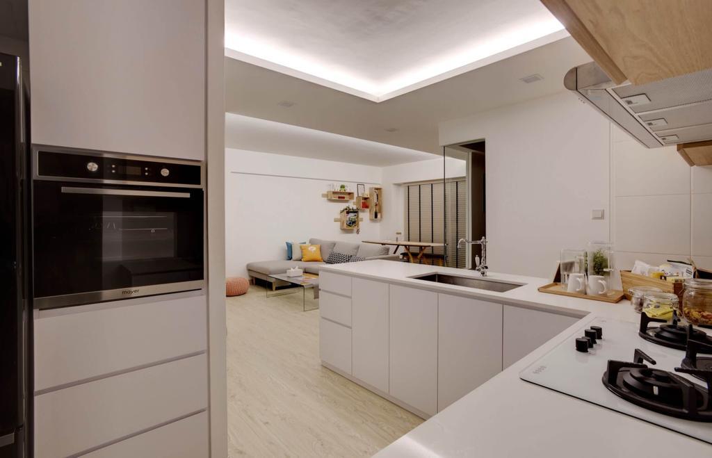 Minimalistic, HDB, Kitchen, Cantonment Road, Interior Designer, Space Factor