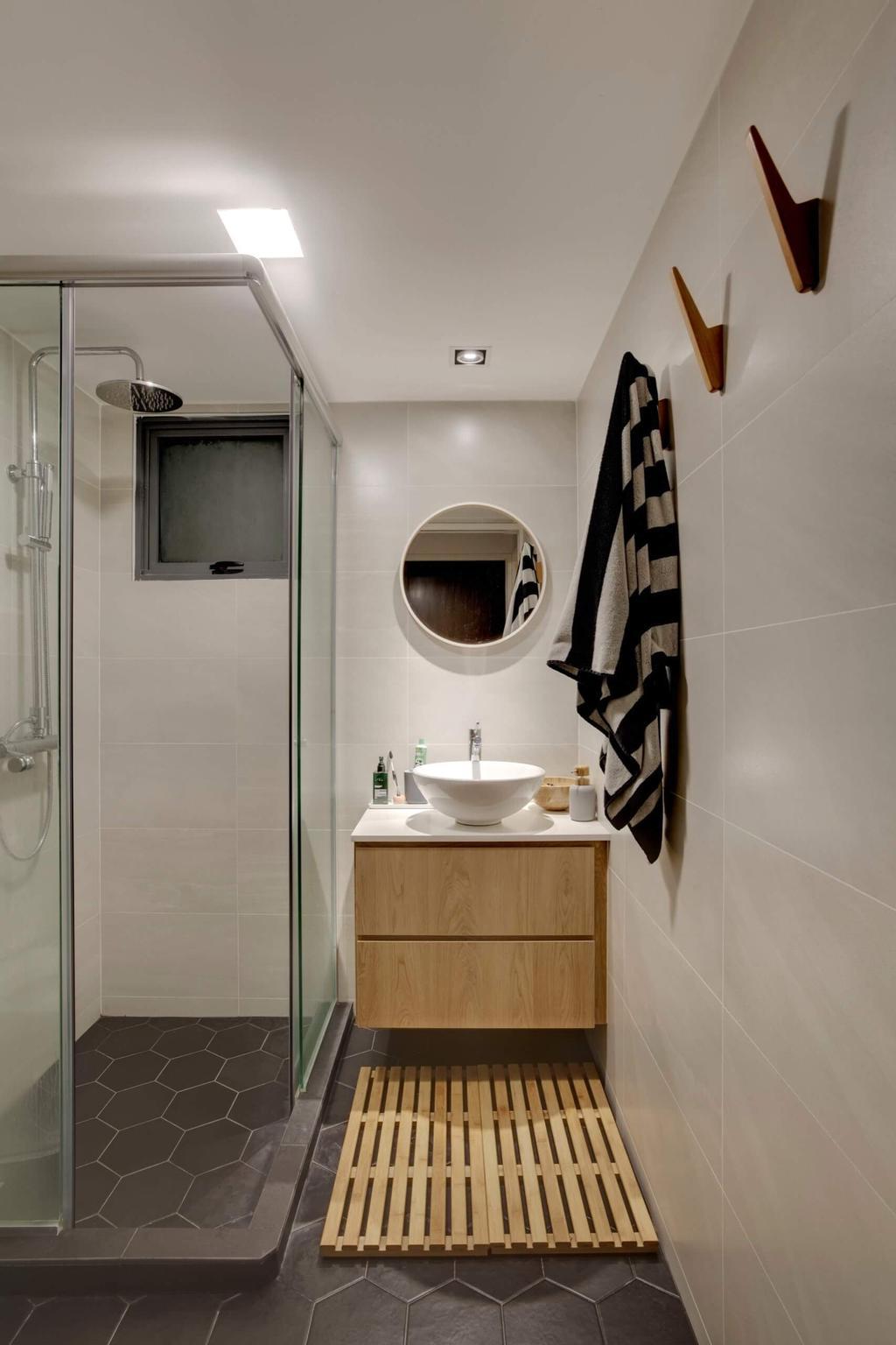 Minimalistic, HDB, Bathroom, Cantonment Road, Interior Designer, Space Factor