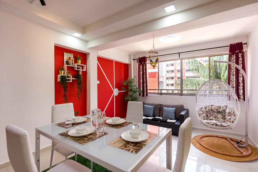 Contemporary, HDB, Dining Room, Choa Chu Kang North 6, Interior Designer, Omni Design