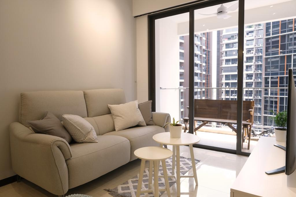 Scandinavian, Condo, Balcony, Sims Urban Oasis, Interior Designer, Starry Homestead, Contemporary