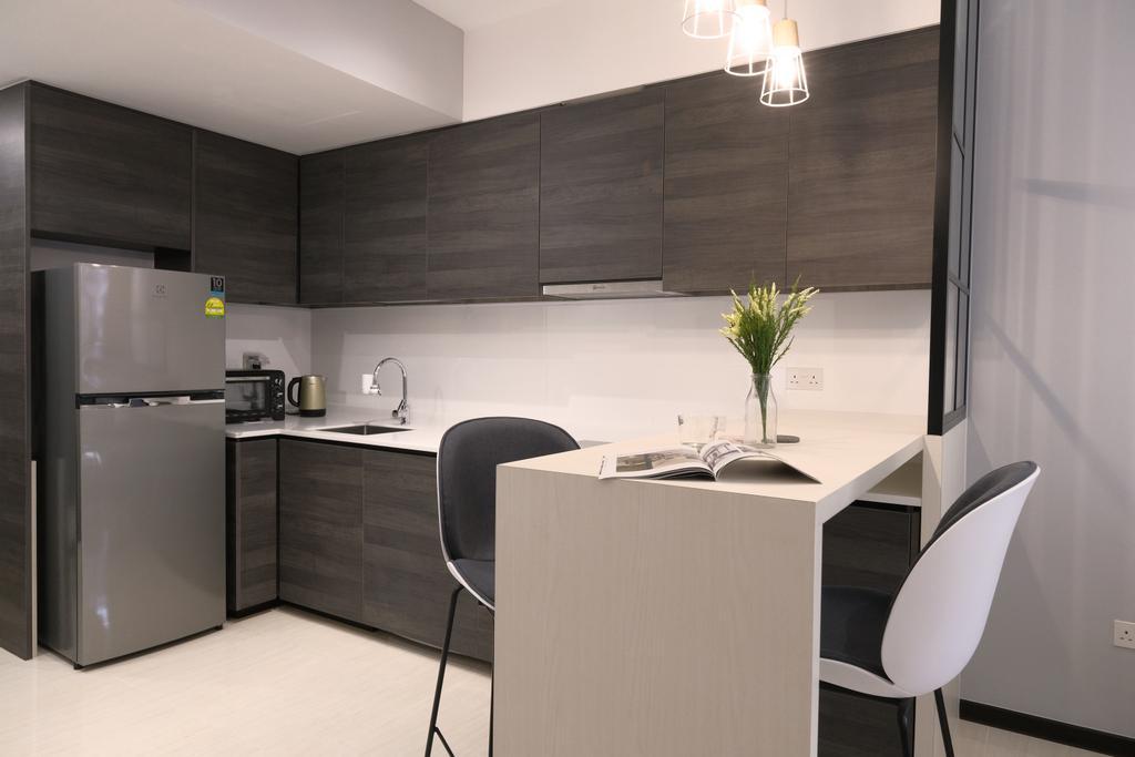 Scandinavian, Condo, Kitchen, Sims Urban Oasis, Interior Designer, Starry Homestead, Contemporary
