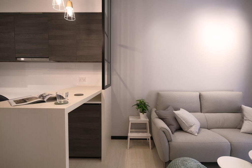 Scandinavian, Condo, Living Room, Sims Urban Oasis, Interior Designer, Starry Homestead, Contemporary