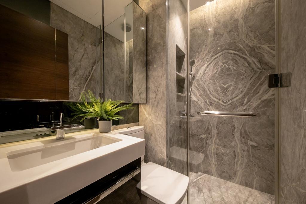 Contemporary, Condo, Bathroom, The Orchard Residences, Interior Designer, Space Atelier
