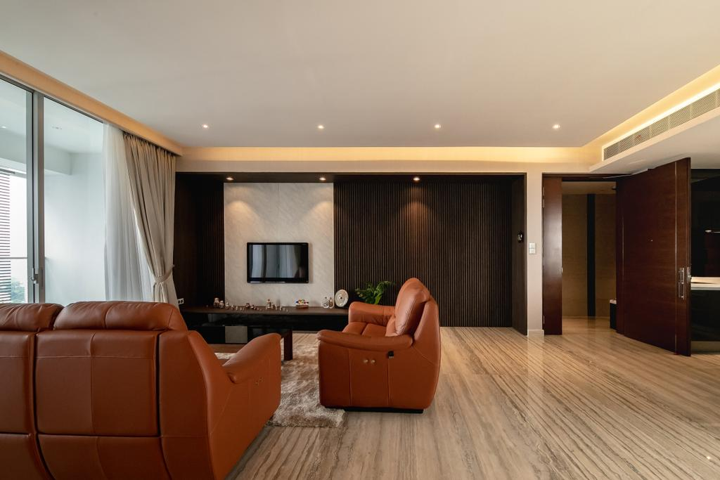 Contemporary, Condo, Living Room, The Orchard Residences, Interior Designer, Space Atelier