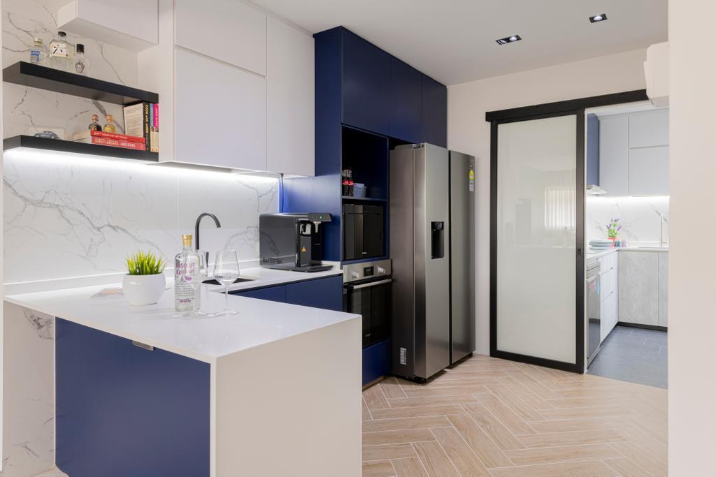 Scandinavian, HDB, Kitchen, Veerasamy Road, Interior Designer, Meter Square