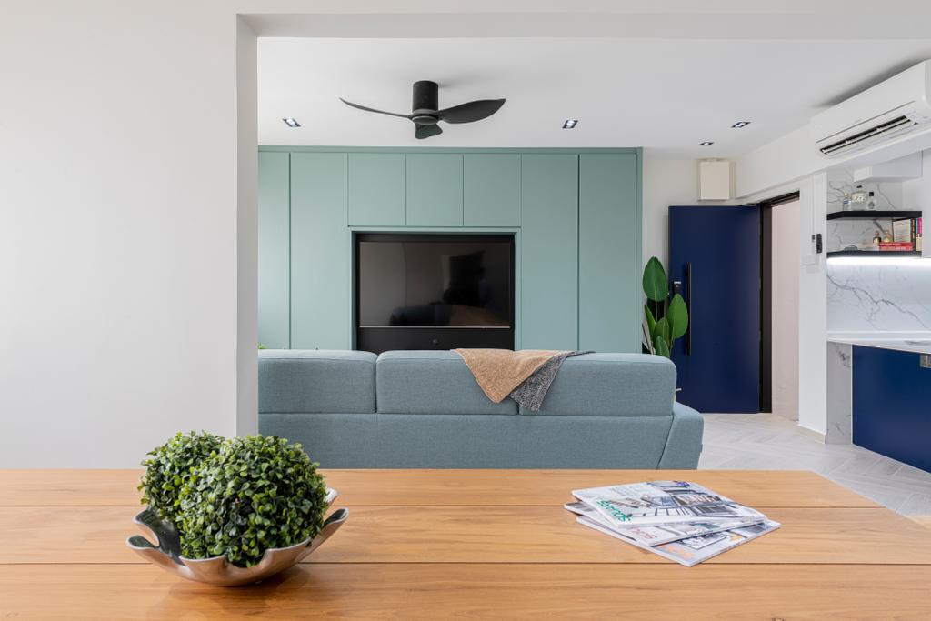Scandinavian, HDB, Living Room, Veerasamy Road, Interior Designer, Meter Square
