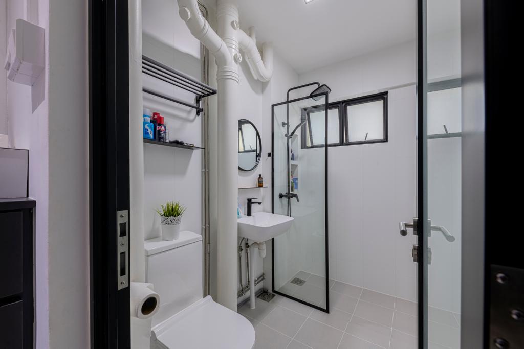 Scandinavian, HDB, Bathroom, Veerasamy Road, Interior Designer, Meter Square