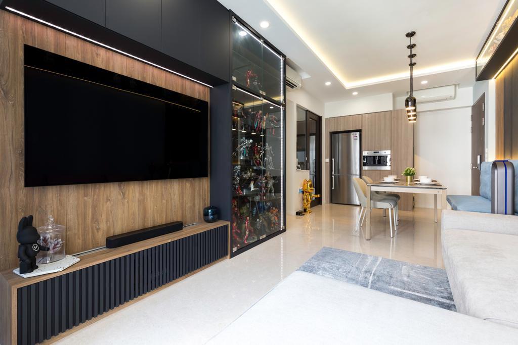 Contemporary, Condo, Living Room, Botanique At Bartley, Interior Designer, Inizio Atelier
