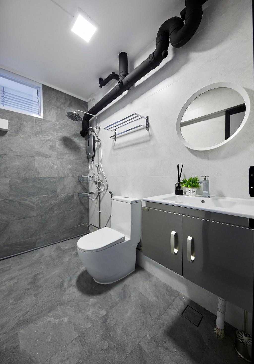 Contemporary, HDB, Bathroom, Bukit Batok Street 24, Interior Designer, MET Interior