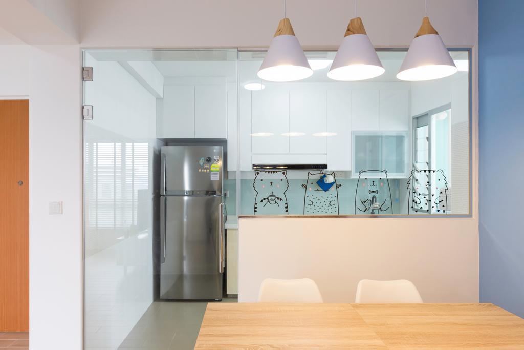Scandinavian, HDB, Dining Room, Sembawang Crescent, Interior Designer, Style Living Interior