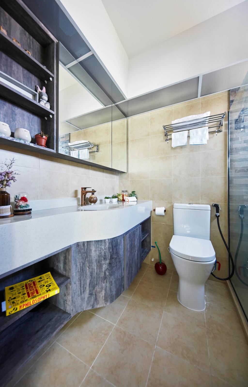 Contemporary, HDB, Bathroom, Telok Blangah Street 31, Interior Designer, i-Chapter