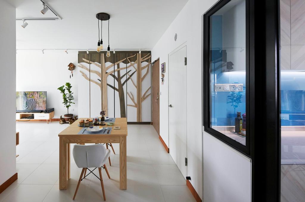 Contemporary, HDB, Dining Room, Telok Blangah Street 31, Interior Designer, i-Chapter