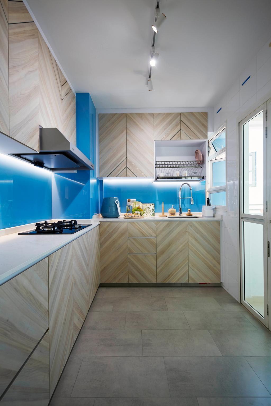 Contemporary, HDB, Kitchen, Telok Blangah Street 31, Interior Designer, i-Chapter