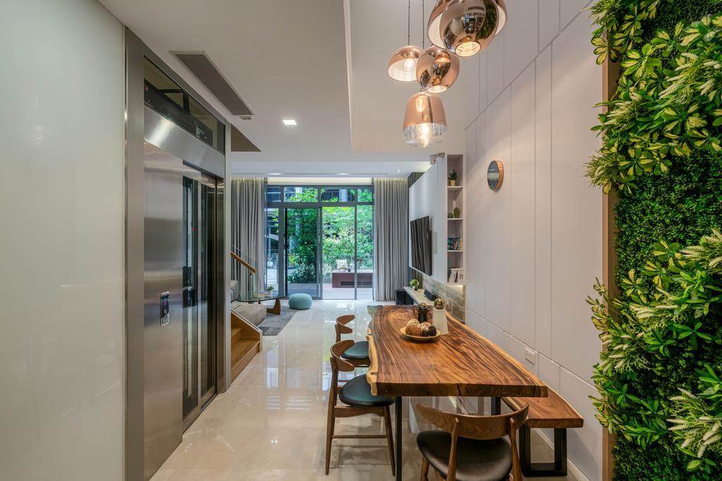 Contemporary, Landed, Dining Room, Belgravia Drive, Interior Designer, Weiken.com