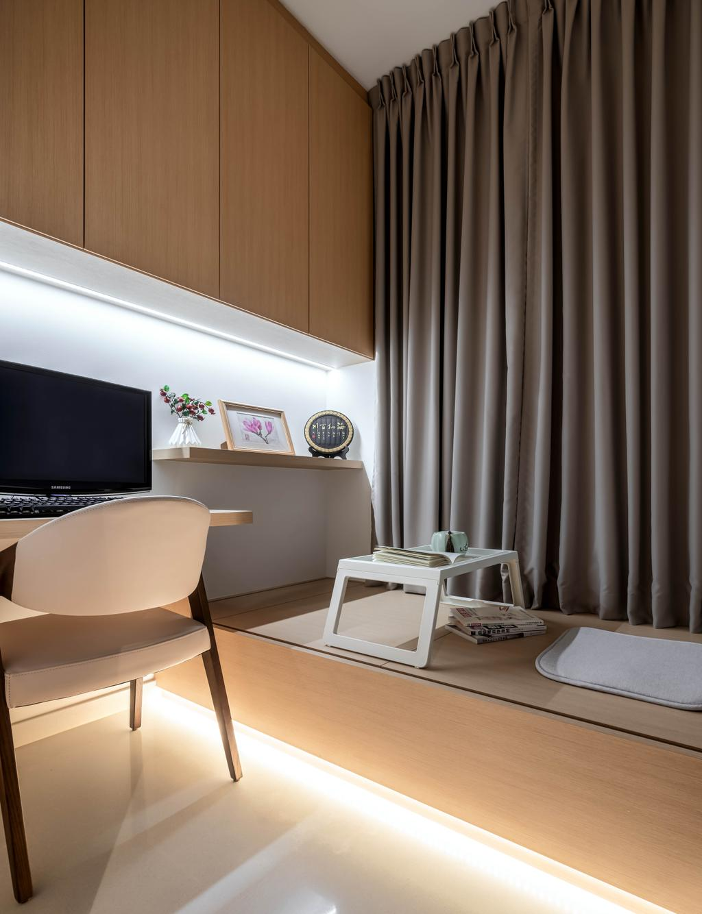 Contemporary, Condo, Study, North Park Residences, Interior Designer, Weiken.com